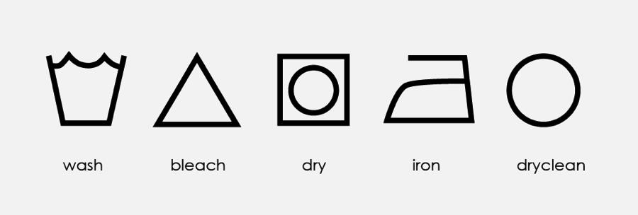 priežiūros ženklai drabužiams
